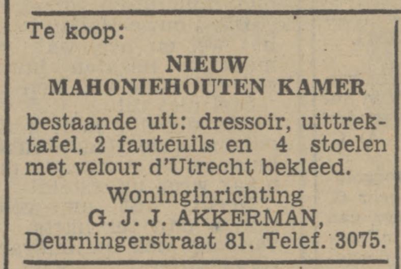 Deurningerstraat 81 G.J.J. Akkerman Woninginrichting advertentie Tubantia 17-9-1941.jpg