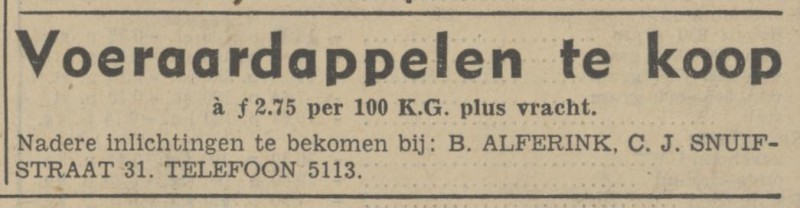 C.J. Snuifstraat 31 B. Alferink advertentie Tubantia 15-10-1941.jpg