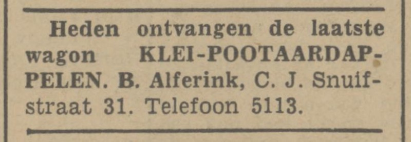 C.J. Snuifstraat 31 B. Alferink advertentie Tubantia 16-4-1941.jpg