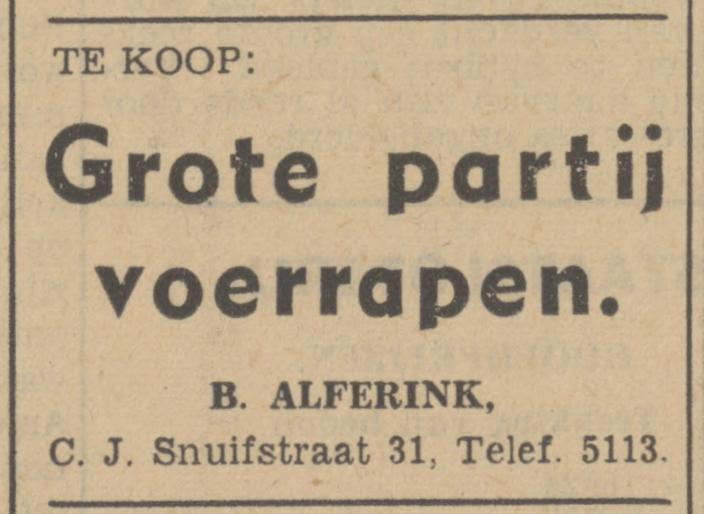 C.J. Snuifstraat 31 B. Alferink advertentie Tubantia 24-11-1941.jpg