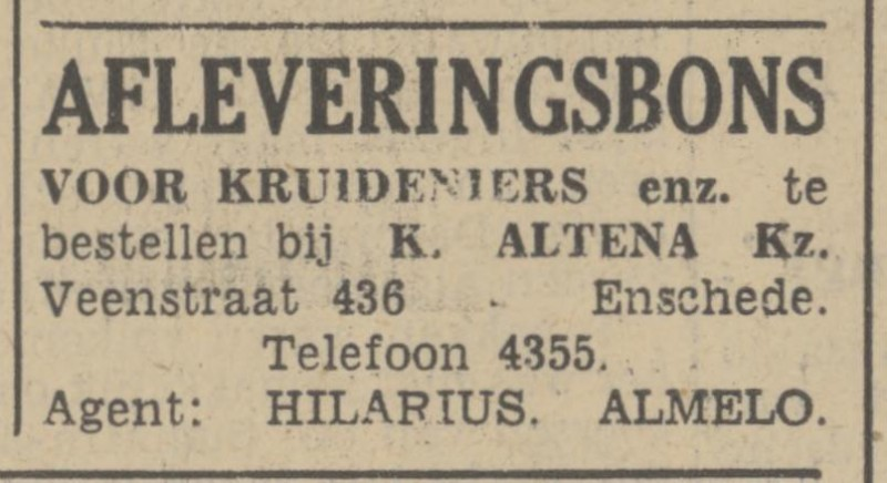 Veenstraat 436 K. Altena advertentie Tubantia 31-8-1939.jpg