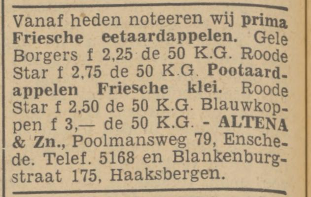 Poolmansweg 79 Altena & Zn advertentie Tubantia 6-4-1940.jpg
