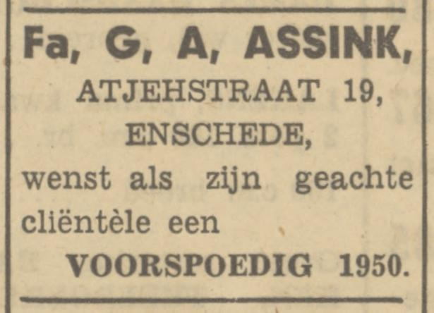 Atjehstraat 19 Fa. G.A. Assink advertentie Tubantia 31-12-1949.jpg