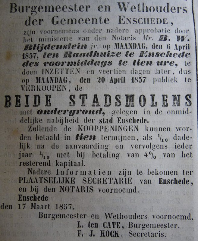 Noordmolen afbraak advertentie 17-3-1857.jpg