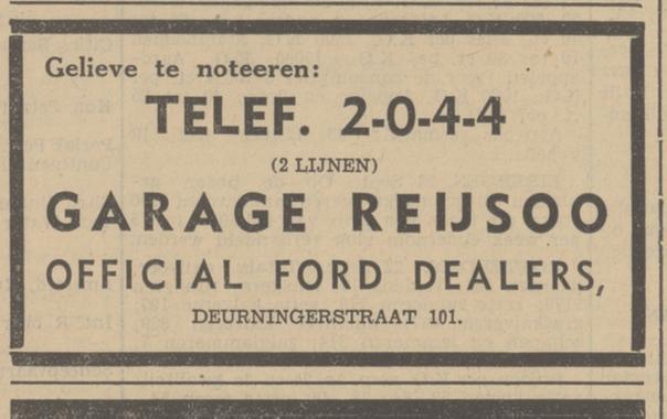 Deurningerstraat 101 Garage Reijsoo advertentie Tubantia 22-9-1936.jpg