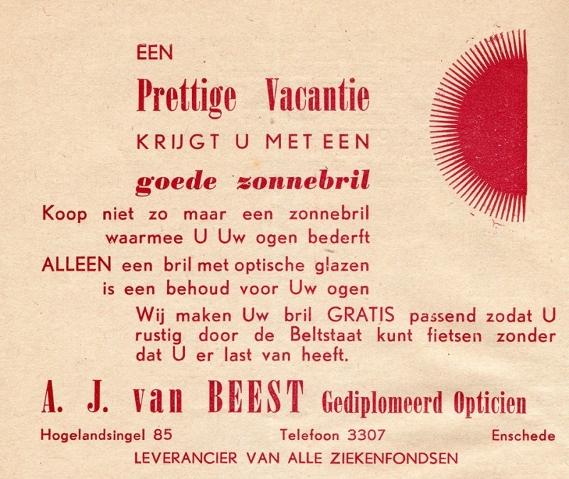 Hogelandsingel 85 advertentie A.J. van Beest opticien.jpg