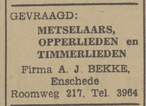 Roomweg 217 A.J. Bekke  advertentie Tubantia 21-7-1948.jpg
