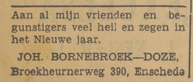 Broekheurnerweg 390 Joh. Bornebroek advertentie Tubantia 31-12-1940.jpg