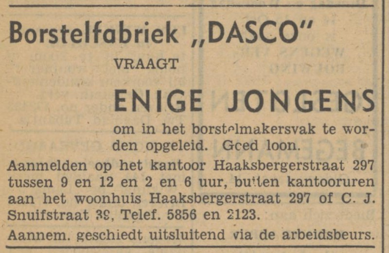 Haaksbergerstraat 297a Borstelfabriek Dasco advertetie Tubantia 11-10-1947.jpg