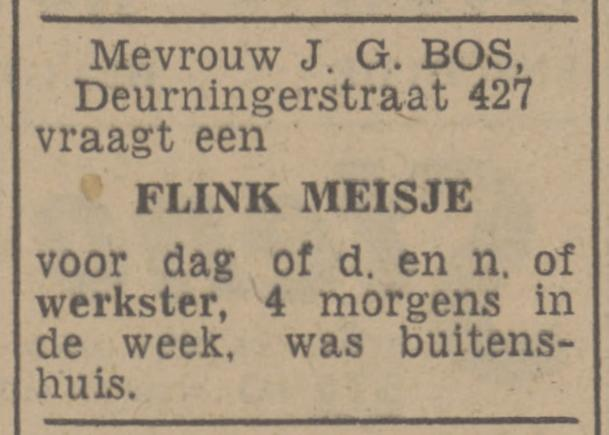 Deurningerstraat 427 J.G. Bos advertentie Tubantia 8-1-1948.jpg