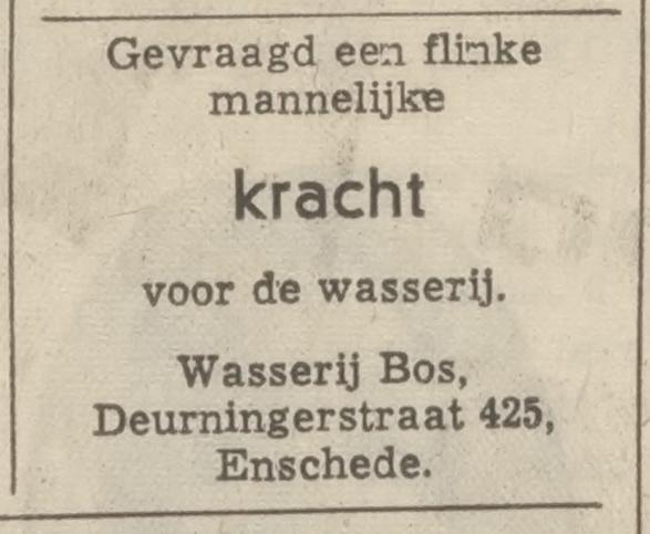 Deurningerstraat 425 Wasserie Bos advertentie Tubantia 24-3-1970.jpg