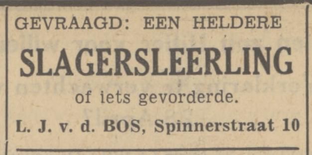 Spinnerstraat 10 v.d. Bos slager advertentie Tubantia 24-4-1935.jpg