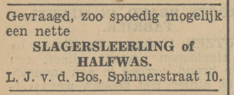 Spinnerstraat 10 v.d. Bos slager advertentie Tubantia 12-9-1933.jpg