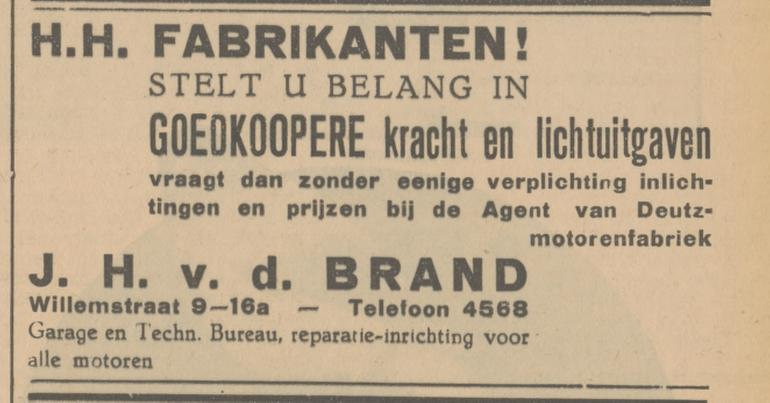 Willemstraat 9-16a garage J.H. v.d. Brand advertentie Tubantia 18-1-1936.jpg