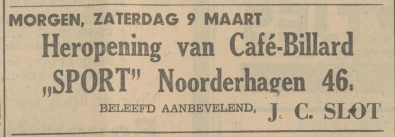 Noorderhagen 46 cafe Sport J.C. Slot advertentie Tubantia 8-3-1935.jpg