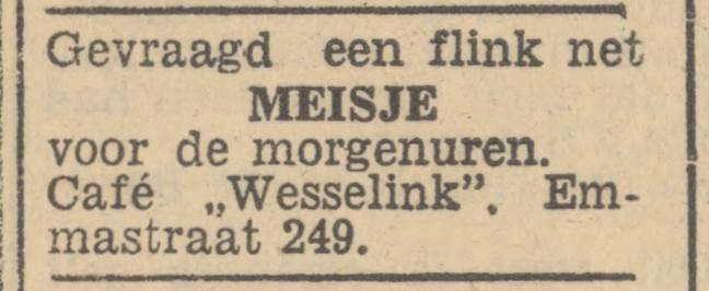 Emmastraat 249 cafe Wesselink advertentie Tubantia 21-1-1947.jpg