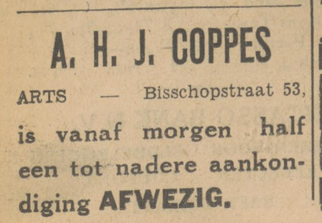 Bisschopstraat 53 A.H.J. Cop;pes Arts advertentie Tubantia 12-9-1932.jpg
