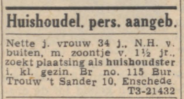 't Sander 10 Dagblad Trouw advertentie Trouw 14-11-1951.jpg