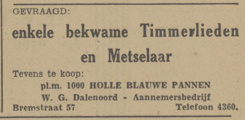 Bremstraat 57 W.G. Dalenoord advertentie Tubantia 4-8-1948.jpg