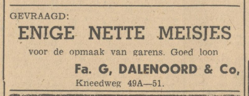 Kneedweg 49a-51 Fa. G. Dalenoord & Co. advertentie Tubantia 10-6-1947.jpg