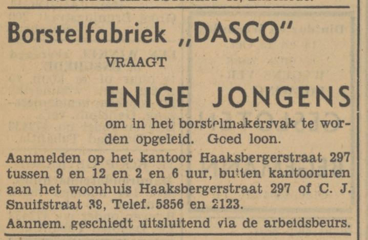 Haaksbergerstraat 297 Borstelfabriek Dasco advertentie Tubantia 11-10-1947.jpg
