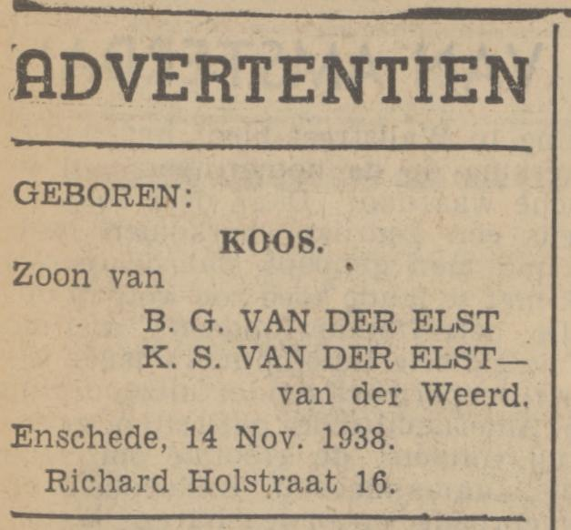Richard Holstraat 16 B.G. van der Elst advertentie Tubantia 15-11-1936.jpg