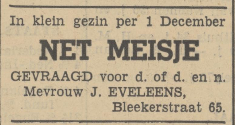 Blekerstraat 65 J. Eveleens advertentie Tubantia 23-10-1936.jpg