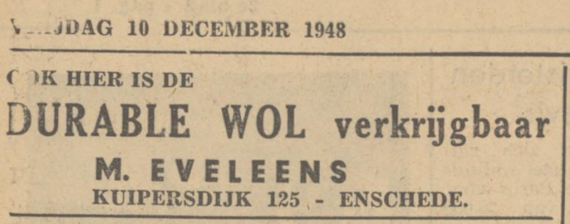 Kuipersdijk 125 M. Eveleens advertentie Tubantia 10-12-1948.jpg