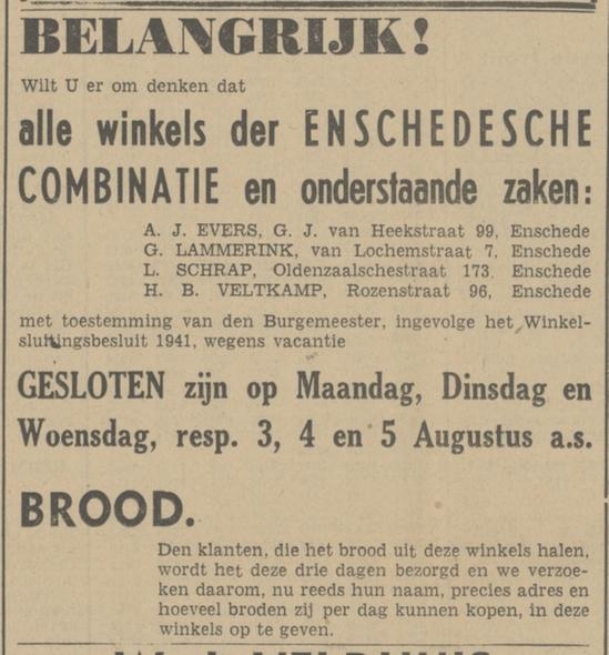 G.J. van Heekstraat 99 A.J. Evers advertentie Tubantia 29-7-1942.jpg