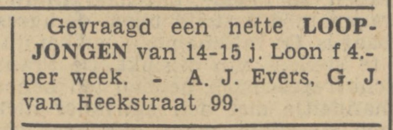 G.J. van Heekstraat 99 A.J. Evers advertentie Tubantia 9-11-1938.jpg