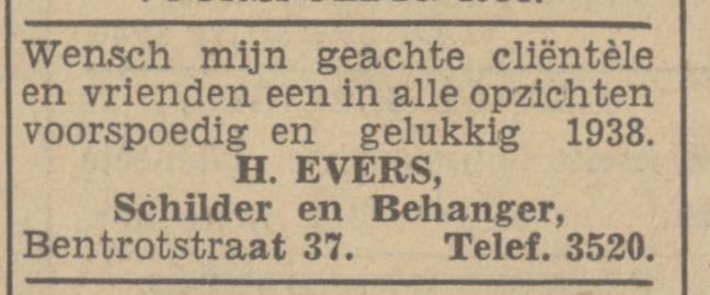 Bentrotstraat 37 H. Evers schilder en behanger advertentie Tubantia 31-12-1937.jpg