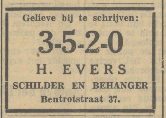 Bentrotstraat 37 H. Evers schilder en behanger advertentie Tubantia 18-5-1935.jpg