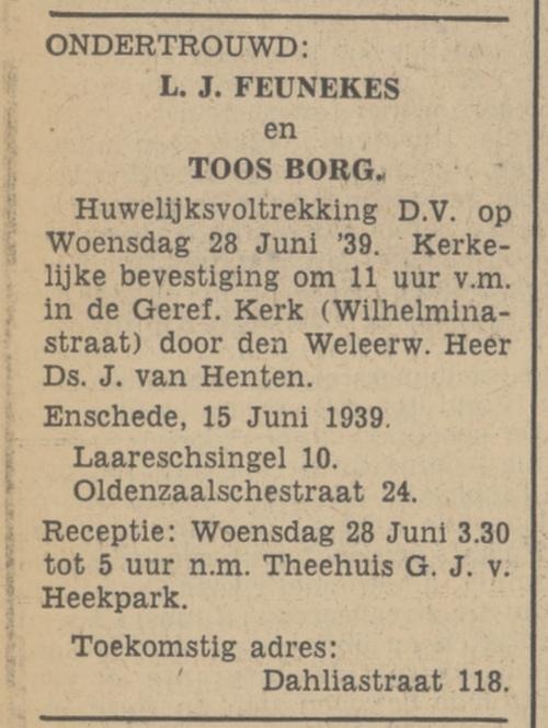 Dahliastraat 18 L.J. Feunekes advertentie Tubantia 15-6-1939.jpg