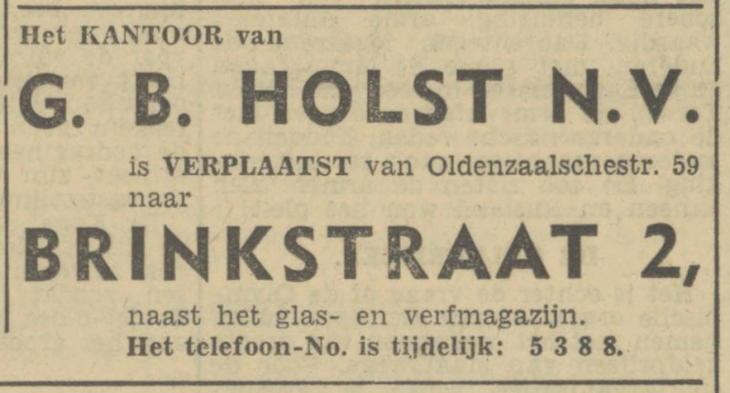 Brinkstraat 2 G.B. Holst N.V. advertentie Tubantia 14-11-1946.jpg