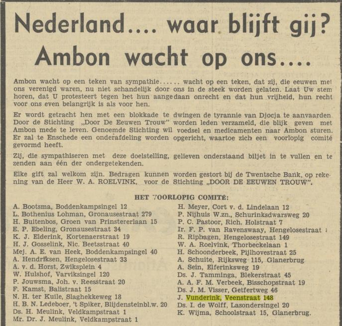 Veenstraat 148 J. Vunderink advertentie Tubantia 3-6-1950.jpg