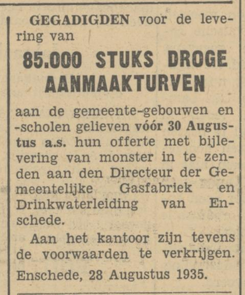 Directeur Gem. Gasfabriek en Drinkwaterleiding advertentie Tubantia 28-8-1935.jpg