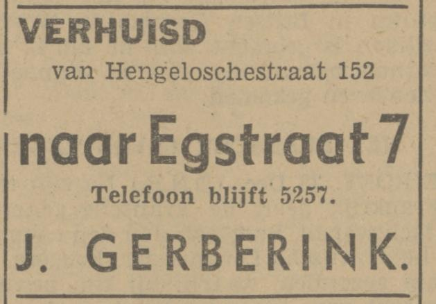 Egstraat 7 J. Gerberink advertentie Tubantia 28-12-1940.jpg