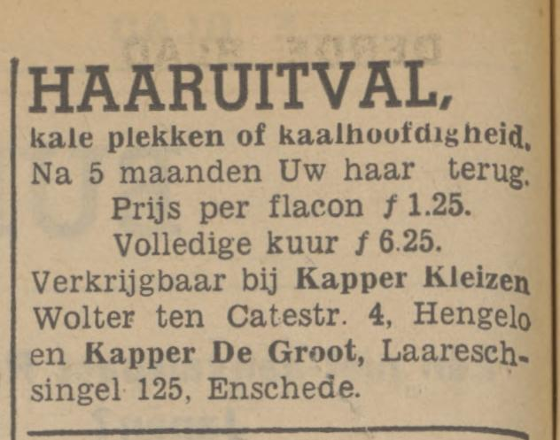 Laaressingel 125 Kapper De Groot advertentie Tubantia 2-4-1941.jpg