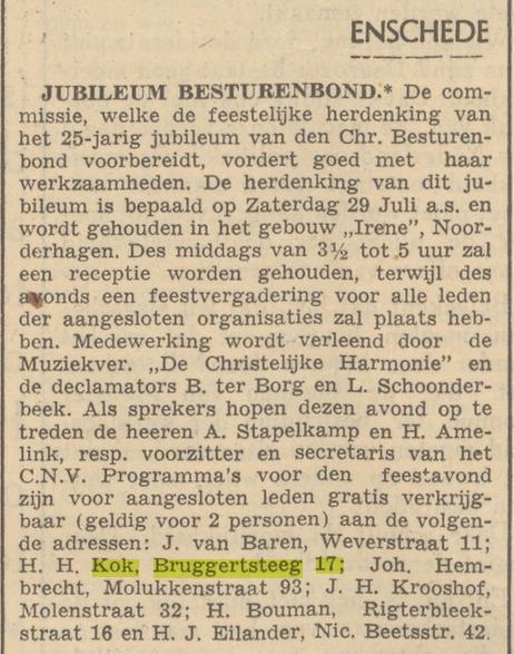 Bruggertsteeg 17 H.H. Kok advertentie 13-7-1939.jpg