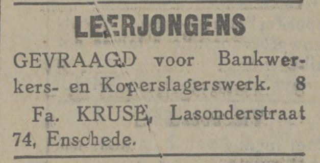 Lasonderstraat 74 Fa. Kruse advertentie Tubantia 18-12-1929.jpg