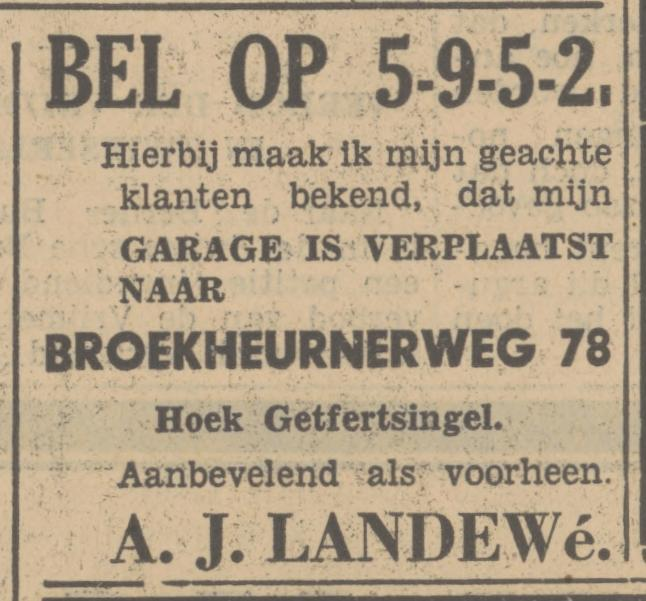 Broekheurnerweg 78 garage A.J. Landewe advertentie Tubantia 2-11-1934.jpg